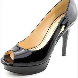 Marc Fisher Black Patent Upper Heel Size 8